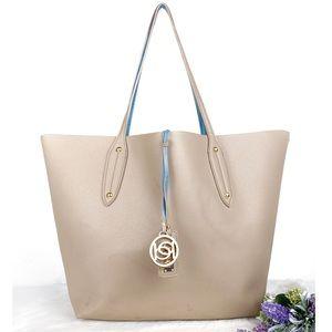 bebe Taupe Reversible Tote Bag